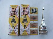 2 BENEFIT KA BROW CREAM GEL BROW COLOR W/ BRUSH #1 - FS - NEW IN BOX
