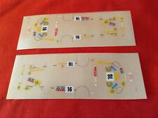"rare 10 x 1/43 decals Ferrari F50 ""Cafe Deco HK"" #16 Macau GT Race 1996 C.Kwan"