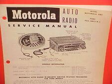 1954 FORD COURIER CRESTLINE SUNLINER CONVERTIBLE MOTOROLA RADIO SERVICE MANUAL