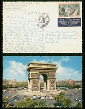 Mayfairstamps France 1962 to Freeport IL Star Square Arch Triumph Paris Postcard