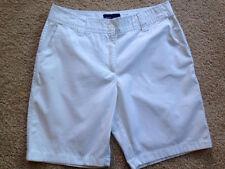 Women's Basic Edition Size 10 White Classic Fit Chino Shorts