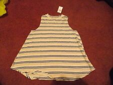 nwt-- Justice girls size 10 plus pink/white/black -mock neck tank--nwt