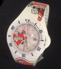 SALE! New Unisex Toy Watch Jelly Silicone Tattoo White Love Lady Pirate T Watch