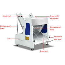 Commercial 110V Automatic Electric Bread Slicer Restaurant Food Machine Kitchen