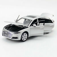 1:32 2019 Audi A8 Model Car Alloy Diecast Gift Toy Vehicle Kids Silver Sound