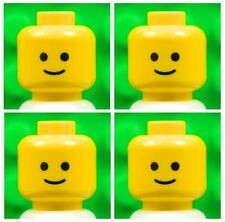 Lego Yellow HEADS [x4] for minifigures boy man regular classic smile # NEW #