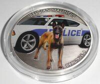 Niue 1 UNZE Silber Belgian Malinois 2016 in Münzkapsel Polizeihund *DIESEL* K9