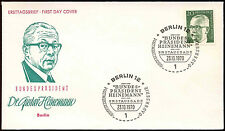 Berlin 1970, 20pf Dr. G. Heinemann Definitive FDC First Day Cover #C34366