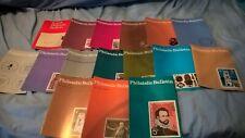 British Post Office Philatelic Bulletin x16 mixed lot 1972 1976 1989 joblot