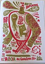 Lost Acapulco MINI-POSTER Reprint FOR CONCERT IN MEXICO CITY 2009  14x10