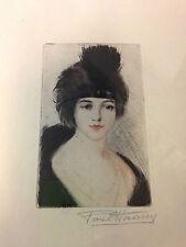 HAASEN Paul - Eau-forte gravure etching signée encadrée portrait