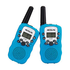 2pcs Kinder Retevis RT388 Walkie Talkie Funkgerät  8CH PMR446 Taschenlampe Blau