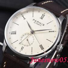 42mm PARNIS Herrenuhr 24 hour datum seagull Automatische movement wristwatch 948