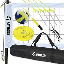 New listing Patiassy Portable Outdoor Volleyball Net with Poles and Winch System for Back...