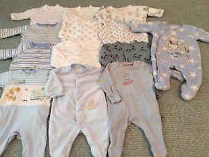 Baby Boys 0-3 Month Sleepsuit Bundle