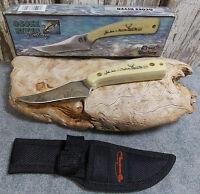 "OCOEE RIVER BY FROST 7 "" DEER DESIGN HANDLE SHARP FINGER KNIFE SHEATH 990534-DH"