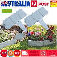100X Stone Effect Plastic Garden Fence Panels Lawn Edging Yard Plant Border