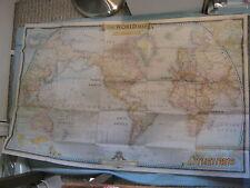 VINTAGE THE WORLD HUGE MAP National Geographic December 1951