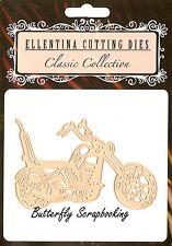MOTORCYCLE #3 Die Motor Bike Ellentina Craft Cutting Dies DCM295 New