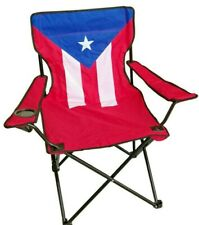 Beach Chair with Cup Holder Fold-able Puerto Rico Flag 34 x 21 inches