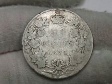 1871-H Silver Canadian 50¢ Cent Fifty Cent CANADA (45,000 Minted).  #75