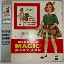 1958 Milton Bradley MAGNETIC MAGIC MARY ANN Paper Doll Set 15 Outfits