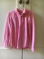 J.Crew Pink Haberdashery 97% Cotton Top Blouse Shirt Women Size L