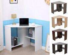 WestWood PC Computer Desk Corner Wooden Desktop Table 2 shelf Workstation CD17