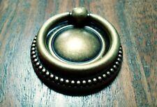Brass FURNITURE Hardware Drawer Ring Pull w/ Backplate Bosetti Marella Italy