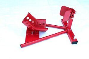 Motorradständer Montageständer Transportständer Motorradwippe Radwippe Rot