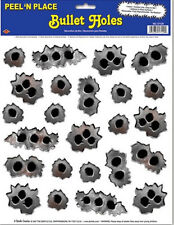 BULLET HOLES wall stickers 24 fun decals car van windows gun ganster wild west