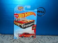 HOT WHEELS 66 CHEVY NOVA IN RED W/FLAMES NICE!!!