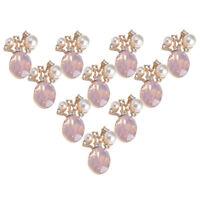 10pcs Pearl Rhinestone Buttons Wedding Flatback Embellishments Scrapbooking