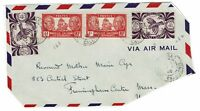 New Caledonia 1948 Airmail Partial Cover to Mass, See notes - Lot 101717