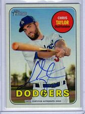 "2018 TOPPS HERITAGE HIGH NUMBER CHRIS TAYLOR ""L.A.DODGERS"" AUTOGRAPH AUTO"