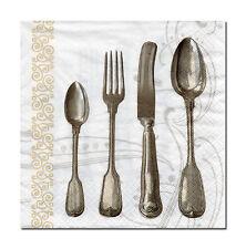 4 Motivservietten Servietten Napkins Tovaglioli Küche Besteck (700) Basteln