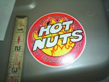 """5.25/"""" HOT NUTS DECAL FOR CANDY VENDING MACHINE COOLER SODA POP"""