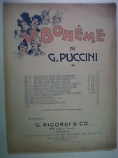 songbook PUCCINI La Boheme, Mimis Song, they call me