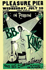 Early Blues: BB King at the Pleasure Pier Concert Poster 1955