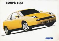 Fiat Coupé Prospekt ital. 4/94 brochure 1994 Autoprospekt Broschüre prospetto