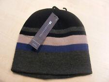 Ragazzi Blu, Navy + GRIGIO RIGHE Berretto hat. Ages 6 - 9