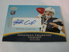 2010 Topps Prime Jonathan Crompton Autograph / Signed card (B106) Chargers