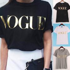 9181df65d28e Fashion T-Shirt Women Girl VOGUE Printed T-shirt Casual Cotton Tops Tee  Shirt