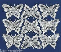 uralte originale silber geprägte Dresdner Pappe Schmetterlinge - DIE CUT SCRAPS
