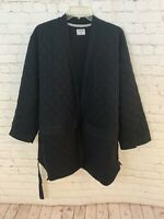 Hurley Women's Jacket Black Medium Quilted Wrap Soft Jacket AJ3511-010 NWT $100