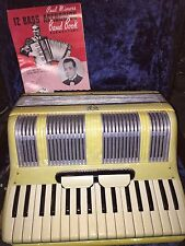 CUSTOM BUILT NOBLE ACCORDION!!!! Pearl addition made in italy!