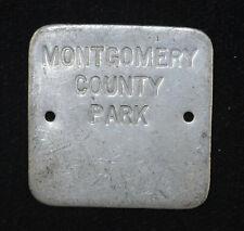 29mm Montgomery County Park Vintage Aluminium Fob Key Chain Plaque Tag