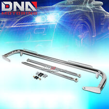 "49"" STAINLESS RACING PROTECTION SAFETY SEAT BELT CHASSIS HARNESS BAR ROD CHROME"