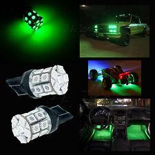 2x GREEN T20 20 SMD LED 7443 7440 Car Brake Tail Turn Signal Light Lamp Bulb