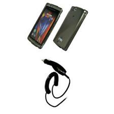 for Sony Ericsson Xperia ARC Smoke Case+Car Charger